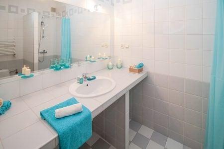 bathroom countertop and sink