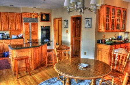 nice kitchen and dining room table