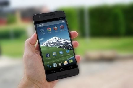 android smartphone in a hand